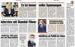 Publikationen März 2021 in diversen Zeitungen und Magazinen